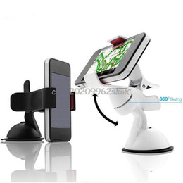 Discount car mount tablet pc holder - Wholesale-360 Degree Rotating Car Windshield Holder Mount Stand For Tablet PC Mobile Cell Phone GPS #H029#