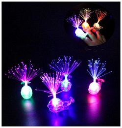 $enCountryForm.capitalKeyWord NZ - Creative Whale LED Finger Ring Lights Beams Party Nightclub Color Rings Optical Fiber Lamp For Kids Children Gifts Party Supplies