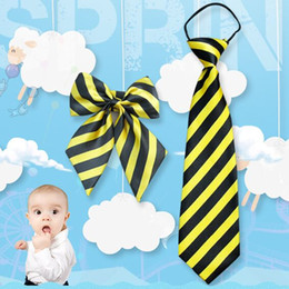Free Christmas Gifts For Children Australia - Child Neck tie bowknot sets 27 colors bowtie Jacquard Lazy Necktie For student paty Christmas gifts free shipping