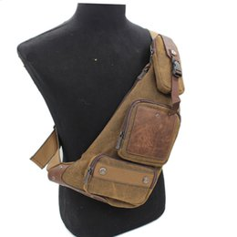 07b8754cab52 Sling Chest Back Pack Male Cross Body Bags Travel Trend Multi-purpose Men  Canvas Assault One Shoulder Rucksack Messenger Bag