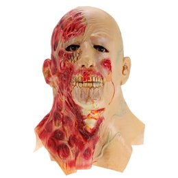 zombie masks 2019 - Halloween Adult Mask Zombie Mask Latex Bloody Scary Extremely Disgusting Full Face Mask Scary for Child Horror Decoratio