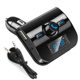 Опт 2018 автомобильный комплект громкой связи беспроводной Bluetooth FM-передатчик ЖК-MP3-плеер USB зарядное устройство бесплатная доставка DHL