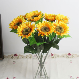$enCountryForm.capitalKeyWord UK - Best New MOQ10pcs Artificial SUNFLOWER FHome Decoration Flowers Garden Wedding Party Supplies Flower Simulation Sunflowers Popular