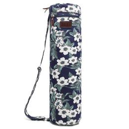 Toptan satış Yoga Mat Çanta Mat Çanta Taşıyıcı Tutucu Spor Sling Çanta Sağlam Tuval ile, Pürüzsüz Fermuarlar, Ayarlanabilir Askı, Büyük Fonksiyonel Depolama Cep