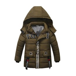 499e1284197d Baby Boy Snowsuit Cotton Padded Jacket Letter Printed Detachable Hooded  Cashmere thickening Down Coat Kids Designer Winter Clothes 2-5T