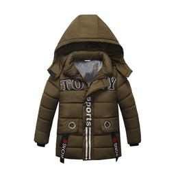 149cd72d8 Boys designer coats online shopping - Baby Boy Snowsuit Cotton Padded Jacket  Letter Printed Detachable Hooded