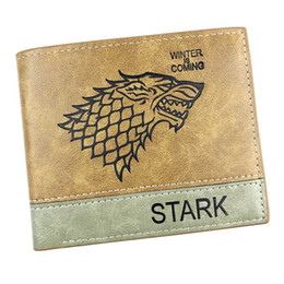 Red Black Card Game UK - Game of Thrones Anime Wallet Printed With Wolf head Card Holder with Coin Pocket for Woman Man Gift Purse