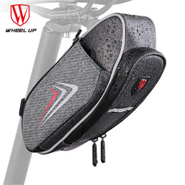 Dark Cycles NZ - WHEEL UP 2018 Bicycle Saddle Bag With Water Bottle Pocket Cycling Rear Seat Tail Bag Bicycle Rear Top Tube Waterproof MTB