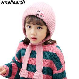 $enCountryForm.capitalKeyWord NZ - New Autumn Winter Children Knit Hat Cute Letters Print Hat Baby Kids Plush Warm Hats Knitted Kids Thick Cap Girl Boy Beanie Cap