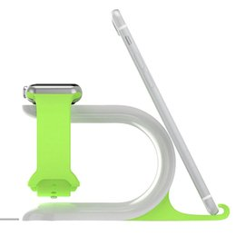 2-в-1 зарядки стенд часы зарядки док-станция Держатель телефона силикагель крепление для iPhone