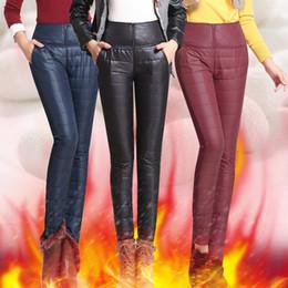 3c1ee11758c78 Femmes Femme Épais En Bas Pantalon 2017 De La Mode D'hiver Haute Taille  Ceinture extérieure Pantalon Slim Chaud Pour Les Femmes Pantalons Plus La  Taille