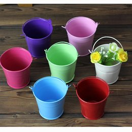 tin buckets favors 2019 - Wedding Favors and Gifts Candy Box Mini Tin Bucket Gift bags Flower Pots Hanging Flower Pots Metal Bucket Flower Holders