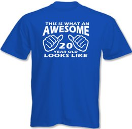 $enCountryForm.capitalKeyWord UK - This Is What An Awesome 20 Year Old Looks Like Mens Funny 20th Birthday T-Shirt Funny free shipping Unisex Casual tshirt gift