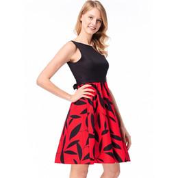 Women Print Midi Dress Back Bow Vintage Casual Knee Dresses Elegant Ladies  Semi Formal Dresses 2018 a40677d39