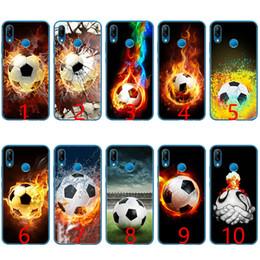 $enCountryForm.capitalKeyWord NZ - Fire Football Soccer Ball Soft Silicone TPU Phone Case for Huawei Honor 7A Pro 6A 7X 8 Lite 9 Lite 10 Cover
