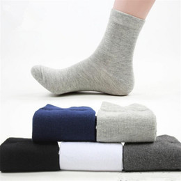Wholesale solid color dress socks online – funny New Pairs Quality Man Casual Socks Male High Cotton Men Dress Socks Pure Color Business Style Autumn Socks Men