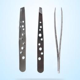 $enCountryForm.capitalKeyWord NZ - Hot sale Eyebrow Tweezers of BAKU Hollow Out Design Ultra Rigidity Fine Point Anti-Static Stainless Steel Tweezer Makeup Tool