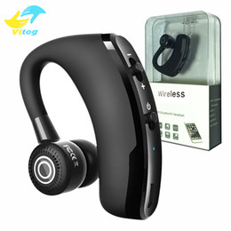 Bluetooth handsfree voice online shopping - V9 Handsfree Wireless Bluetooth Earphones CSR Noise Control Business Wireless Bluetooth Headset Voice Control with Mic for Driver Sport