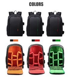 Discount waterproof shockproof dslr backpack - Polyester Material Outdoor Waterproof Multifunctional DSLR Camera Backpack With Big Laptop Pocket and Tripod Hanging Bel