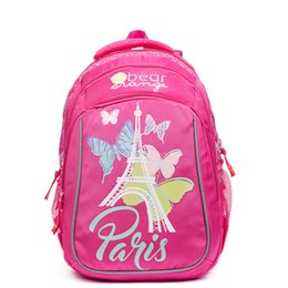 New Fashion Cartoon Butterfly School Bags for Girls Primary Students  Schoolbag Orthopedic Backpacks Children Grade 1-4 Kid Bag 45cb154ce75a9