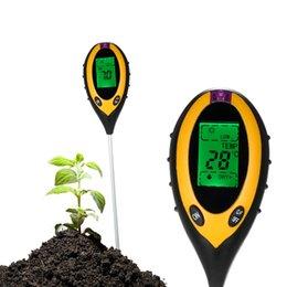 Analysis Tester NZ - 4-in-1 Soil Tester PH Moisture Temperature Sunlight Intensity soil ph meter Moisture Meter measurement analysis instruments