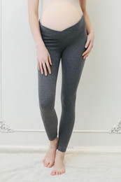 3766d2e20d592 Spring Autumn Maternity Leggings Low Waist Pregnancy Belly Pants For Pregnant  women Maternity Thin Trousers Clothes Leggings