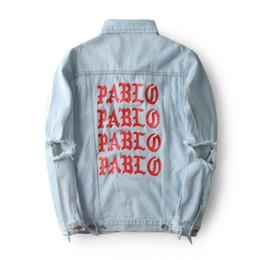 Chinese  KANYE WEST SEASON 3 Oversized PABLO Men Jackets Broken Hole Jean Coat HIPHOP Motorcycle Jacket Men Jeans Denim Jacke manufacturers