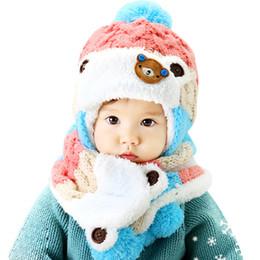 Baby Winter Cappello e sciarpa Set molto caldo per neonato Berretto per  berretto per bambini Ragazzi Ragazze Animal Bear Style Bambini Crochet  lavorato a ... ca308c7e7e3c