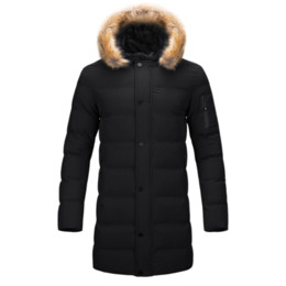 a7626cce594d1 Winter Windproof Jacket Men Brand High Quality Male Long Jacket Coats Men  Fur Puffer Coat Quilted Warm Cotton Padded Parka Mens