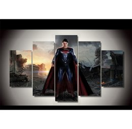 $enCountryForm.capitalKeyWord Australia - Superman VS Batman Justice League,5 Pieces Canvas Prints Wall Art Oil Painting Home Decor (Unframed Framed)