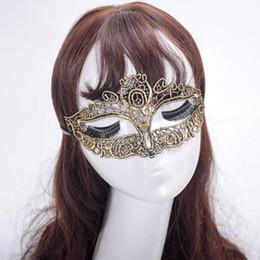 $enCountryForm.capitalKeyWord Australia - Fashion New Multi Color Plating Gold Lace Mask Fox Fancy Elegant Beautiful Masks Half Face Halloween Party Masquerade Hot Sale 3 2yk aa