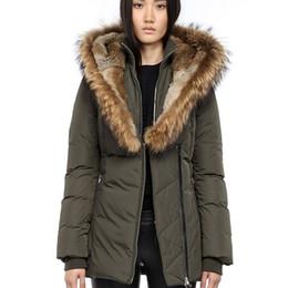 f3b36d7389c Women's Down jacket Winter Mac Kayf F4 FitterI Down & Parkas Brand Real  Raccoon Fur Collar White Duck Outerwear Coats for Women Fur Hood