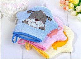 $enCountryForm.capitalKeyWord Australia - 3 Types New Arrival Bath Gloves Cute Baby Bath Sponge Cartoon Super Soft Cotton Brush Rubbing Towel Ball