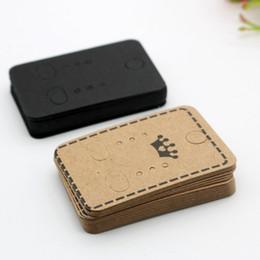 Papier kraft papier titulaire de la carte boucle d'oreille affichage cartes boucle d'oreille tag pour oreille goujons boucles d'oreilles bijoux emballage 4.5 * 3.2 cm