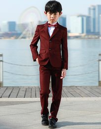Image Boys Dress NZ - Boy suits are suitable for weddings, dances, and the design of the tuxedo children's suits and dresses is quite fashionable.