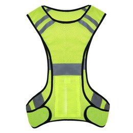 reflective safety vests motorcycle 2018 - Vest Garment Yellow Traffic Motorcycle Night Riding Safety Visibility Reflective Bicycle Outdoor Sports Vest discount re