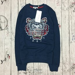 $enCountryForm.capitalKeyWord Canada - Wholesale luxury design embroidery Tiger head tags men's Sweater hoodie women's eyes Sweatshirt Brand label cotton tops Tiger head Sweater