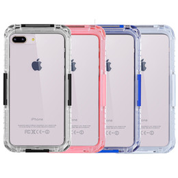 online shopping For iPhone Plus Case Defender Case Under Water Full Sealed Cover Waterproof Shockproof Snowproof Case with Screen Protector