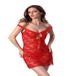 Off Shoulder Strapless Vestido Nighty Dress Slash Neck Plus Size Sexy  Lingerie Night Wear Women Sleepwear See Through Nightgowns 31e16588c