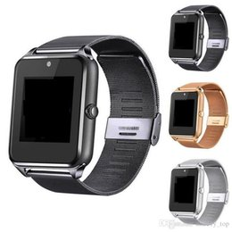 Bluetooth Smart Watch Sim Australia - Z60 Bluetooth Smart Watch Phone Smart Watch Stainless Steel Wireless Smart Watches Support TF SIM Card For Android IOS With Retail Package