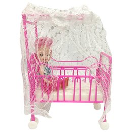 Designs For Beds NZ - One Set Doll Accessories Baby Bed Super Cute Bed For Small Kelly Dolls For Barbie Dolls Girls Gift Favorite Design Toys free shipping hot