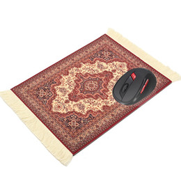 Wholesale 180 x mm Vintage Gaming Mouse Pad Woven Rug Mousepad Rubber Mouse Mat Square Keyboard Mat Gamer Table Office Home Gift