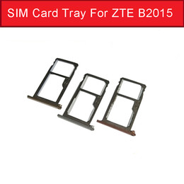 Discount sim card socket - Genuine Sim Card Tray Adapter For ZTE Axon mini   Secret mini B2015 B2016 Micro SD Card Reader Slot Socket Holder Replac