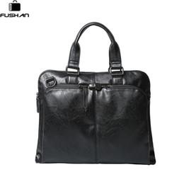 $enCountryForm.capitalKeyWord NZ - FUSHAN Handbag Leather Men Bag Men's Briefcases 14inch Leather Laptop Bag business Male men travel Tote crossbody Bags