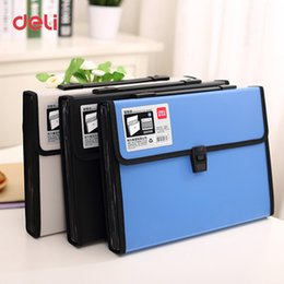 A4 Document Wallet NZ - Deli Wholesale waterproof A4 Paper File Folder for document Bags school supplies stationery Office expanding wallet business bag