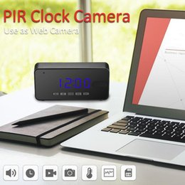 Dvr clock online shopping - Mini Camera Full HD P Night Vision Table Clock Camera Alarm Setting Accurate Motion Detection PIR DVR Security Cam
