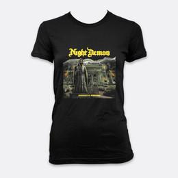 $enCountryForm.capitalKeyWord UK - Night Demon Metal Darkness Remains Lady T-shirt S-2XL Color Black Women's Tees