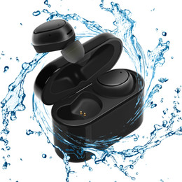 wireless noise cancelling ear headphones UK - Wireless Earbuds Sweatproof Bluetooth 4.1 Noise Cancelling In-Ear Gym Headphones with Built-in Microphone and 500mAh Charging Case for Gym,S
