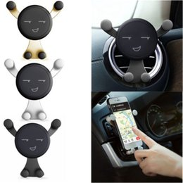 Discount retail cell phone stands - 2018092113360° Rotating Gravity Car Mount Air Vent Stand Holder For Mobile Cell Phone GPS with Retail Box High Quality