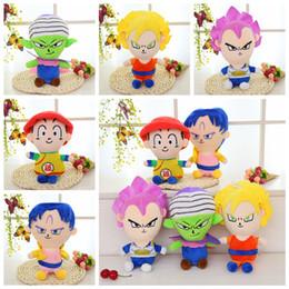 $enCountryForm.capitalKeyWord NZ - 5 Styles 8inch Dragon Ball Z Plush Dolls Son Goku Gohan Vegeta Plush Pendant Action Figure Kids Toys Fashion Accessories 60pcs AAA851